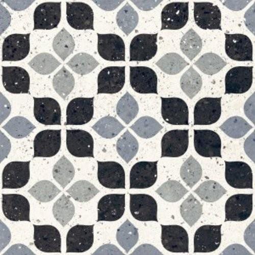 Carrelage à motif effet terrazzo bleu 20x20 cm AZZURRO FIORE - 1.16m² - zoom