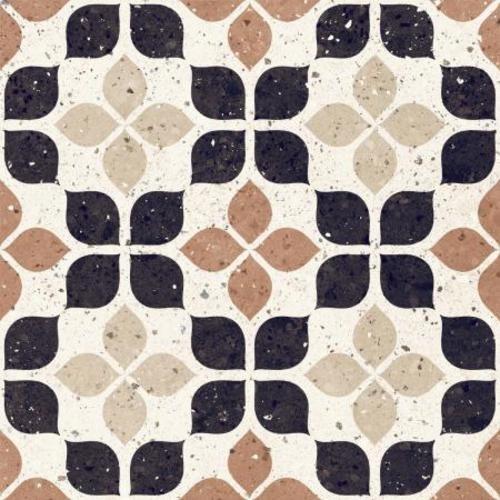 Carrelage à motif effet terrazzo 20x20 cm TERRACOTTA FIORE - 1.16 m² Faetano