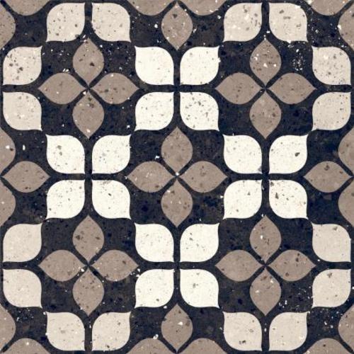 Carrelage à motif effet terrazzo 20x20 cm Nero FIORE - 1.16m² Faetano