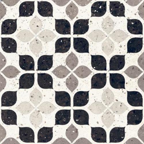 Carrelage à motif effet terrazzo 20x20 cm BIANCO FIORE - 1.16m² Faetano