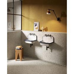 Carrelage à motif effet terrazzo 20x20 cm BIANCO MICRO - 1.16 m² Faetano