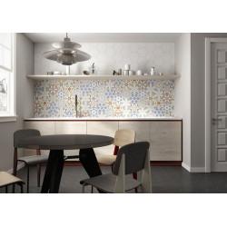 Tomettes décorées ciment 20x24 VERSALLES DECO COLORS - 0.915m² Oset