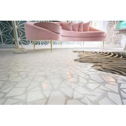 Carrelage mosaique sur trame éclats marbre 30x30 cm Mosaico Necci Blanco - unité Vives Azulejos y Gres