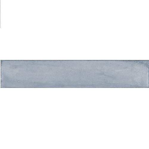Faience vintage brillante bleue - AZZURRO BRICK 7.5x40 cm - 1.32m² - zoom