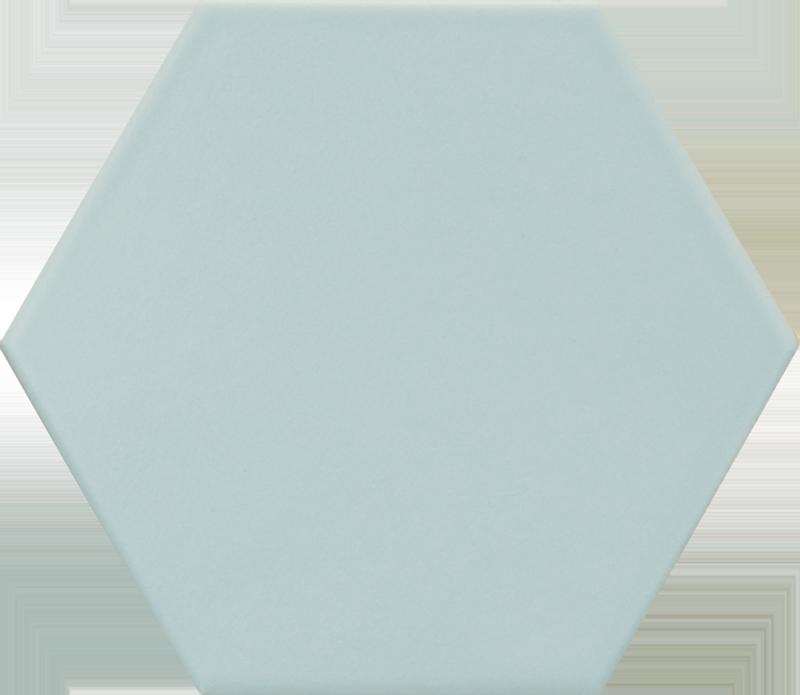 Carrelage hexagonal bleu clair KROMATIKA BLEU CLAIR R10 11.6x10.1 - 26464 - 0.43m² - zoom
