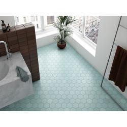 Carrelage hexagonal bleu clair KROMATIKA BLEU CLAIR R10 11.6x10.1 - 26464 - 0.43m² Equipe