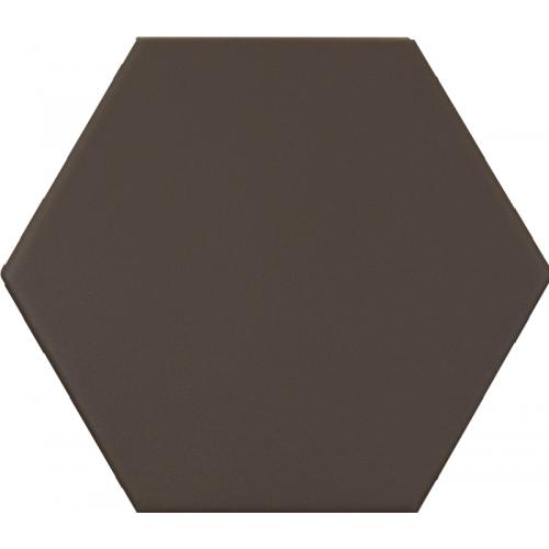 Carrelage hexagonal marron foncé KROMATIKA BROWN R10 11.6x10.1 - 26470 - 0.43 m² Equipe