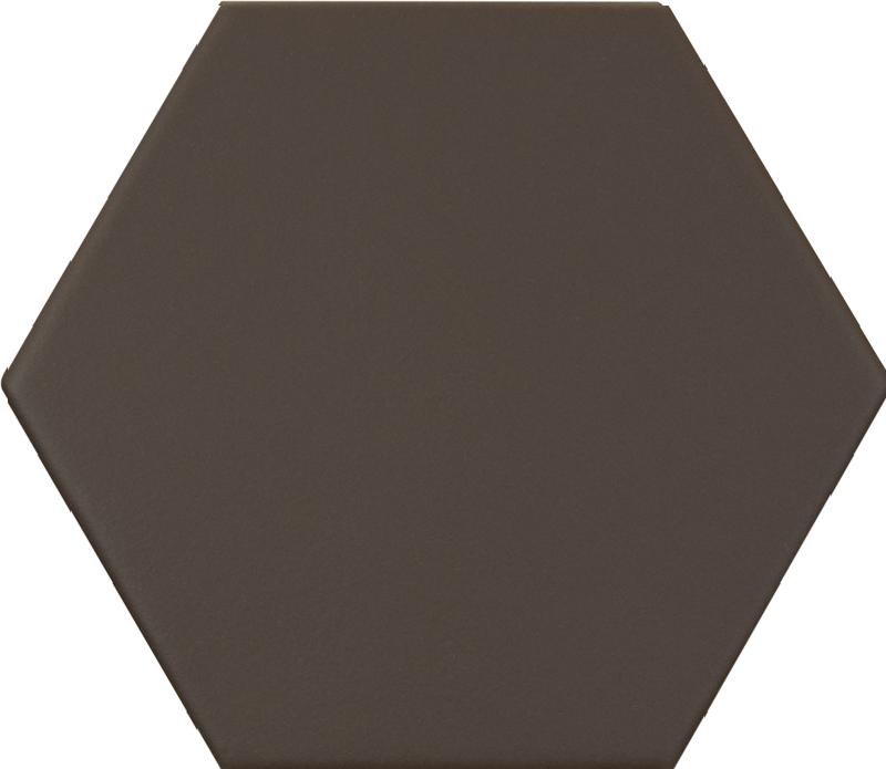 Carrelage hexagonal marron foncé KROMATIKA BROWN R10 11.6x10.1 - 26470 - 0.43 m² - zoom