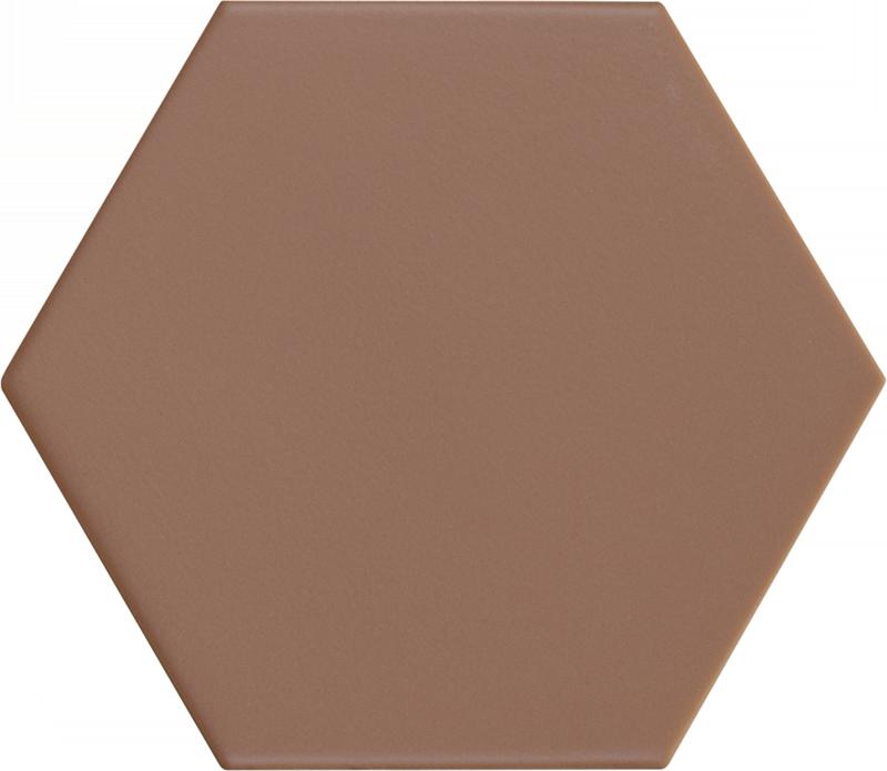 Carrelage hexagonal marron KROMATIKA CLAY R10 11.6x10.1 - 26471 - 0.43 m² - zoom