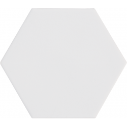 Carrelage hexagonal blanc KROMATIKA WHITE R10 - 11.6x10.1 - 26462 - 0.43 m²