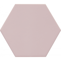 Carrelage hexagonal rose KROMATIKA ROSE R10 - 11.6x10.1cm - 26465 - 0.43 m²