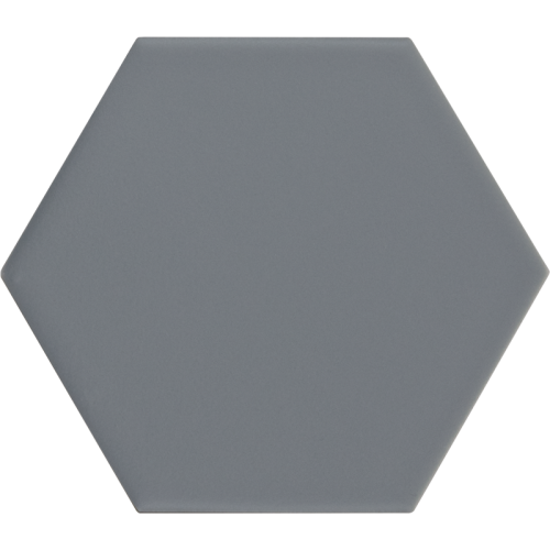 Carrelage hexagonal bleu gris KROMATIKA DENIM R10 - 11.6x10.1 - 26463 - 0.43 m² Equipe