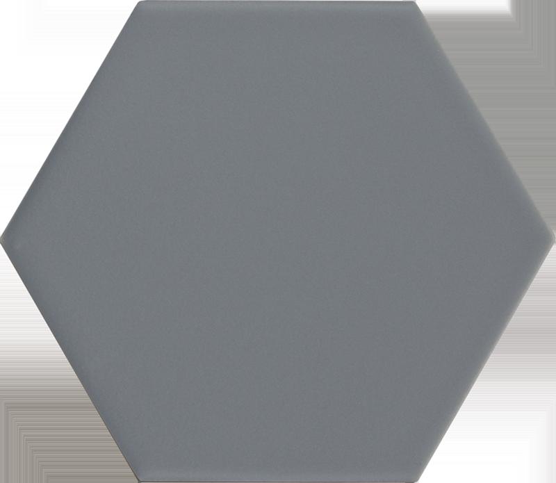 Carrelage hexagonal bleu gris KROMATIKA DENIM R10 - 11.6x10.1 - 26463 - 0.43 m² - zoom