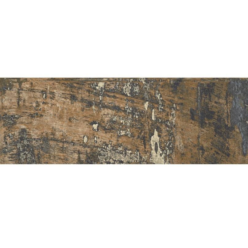 Carrelage imitation parquet style usine usé vintage bleu KUNNY 17.50x50 cm - 1.31m² - zoom