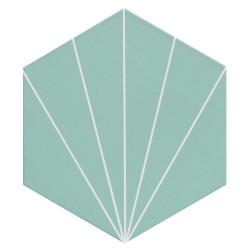 Carreau tomette bleu dandelion 33x28.5 VENUS Aqua - 1m²