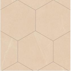 Carrelage grand format HEXAGONO SEINE CREME 51.9x59.9 cm - 0.93 m² Vives Azulejos y Gres