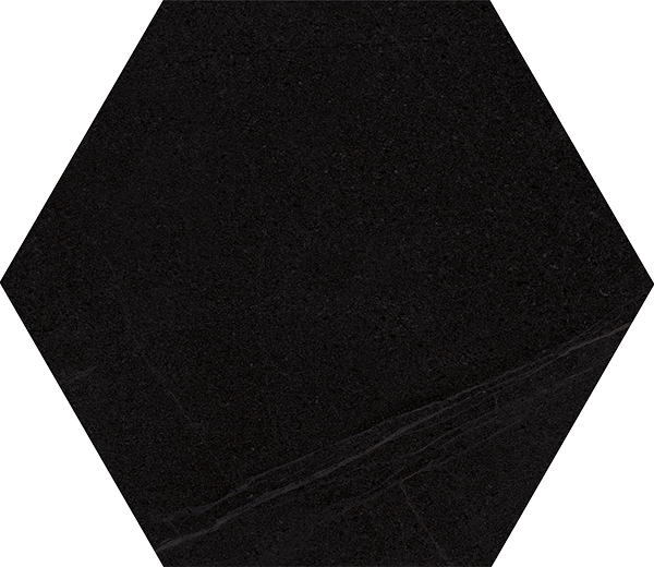 Carrelage grand format HEXAGONO SEINE BASALTO 51.9x59.9 cm - 0.93 m² - zoom