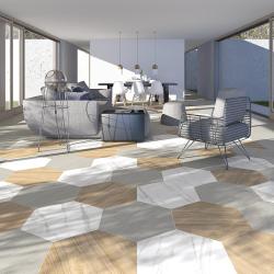 Carrelage grand format HEXAGONO BELICE NATURAL 51.9x59.9 cm - 0.93 m² Vives Azulejos y Gres