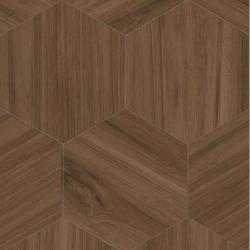 Carrelage grand format HEXAGONO BELICE NOCE 51.9x59.9 cm - 0.93 m² Vives Azulejos y Gres