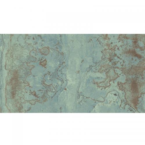 Carrelage rectifié effet métal ZINC GREEN 59.55x119.3 cm - 1.421m² Apavisa
