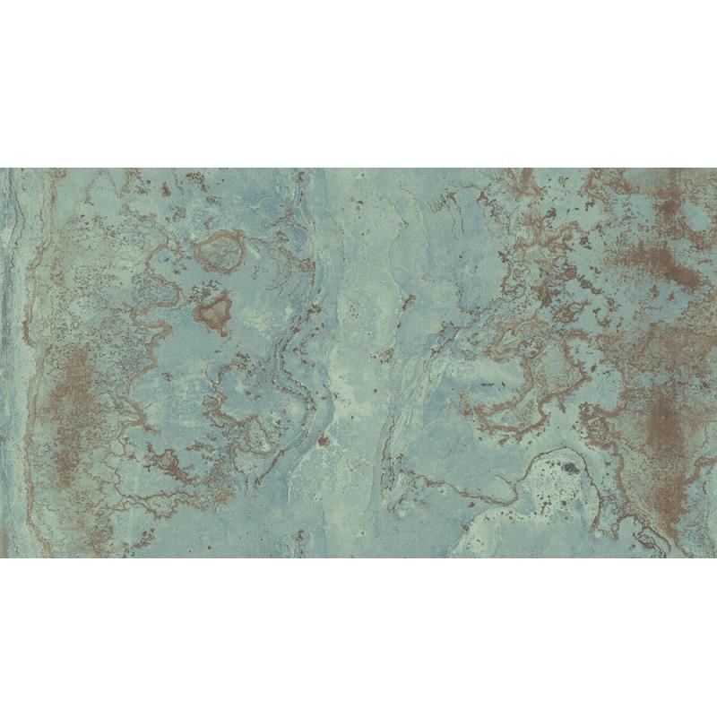 Carrelage rectifié effet métal ZINC GREEN 59.55x119.3 cm - 1.421m² - zoom