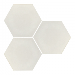 Carrelage hexagonal blanc mate INTUITION WHITE NAT - 25x30 cm - 0.935m²