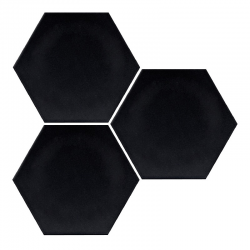 Carrelage hexagonal noir mate INTUITION BLACK NAT - 25x30 cm - R10 - 0.935m²