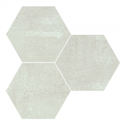 Carrelage hexagonal effet rouille blanc ALCHEMY WHITE NAT 25x30 cm - R10 - 0.935m²
