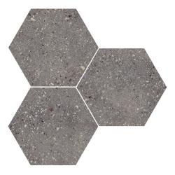Carrelage hexagonal effet terrazzo WIND MOSS NAT - 25x30 cm - R10 - 0.935m²