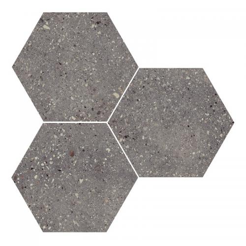 Carrelage hexagonal effet terrazzo WIND MOSS NAT - 25x30 cm - 0.935m² Apavisa
