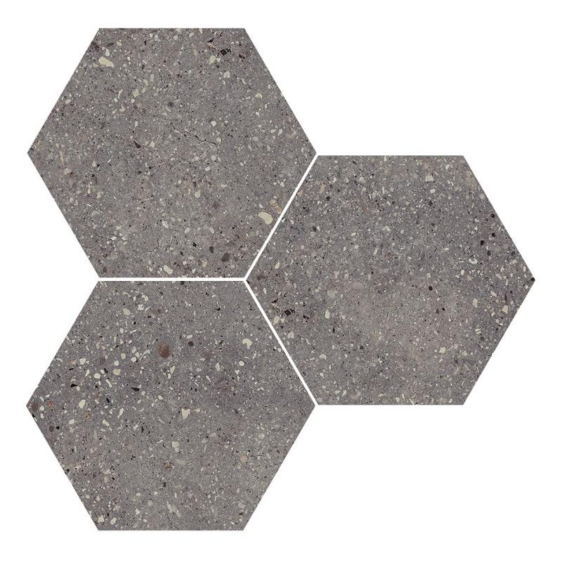 Carrelage hexagonal effet terrazzo WIND MOSS NAT - 25x30 cm - 0.935m² - zoom