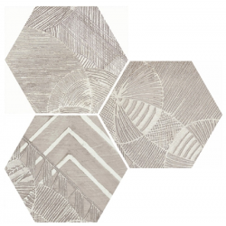 Carrelage hexagonal aspect végétal NORTH SAND DECOR 25x30 cm - 0.935m²