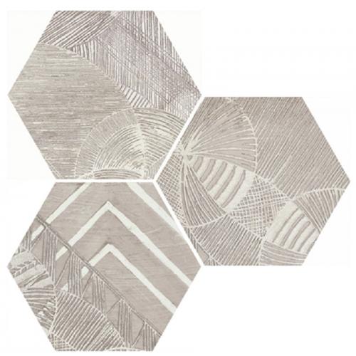Carrelage hexagonal aspect végétal NORTH SAND DECOR 25x30 cm - 0.935m² Apavisa