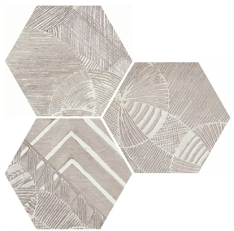 Carrelage hexagonal aspect végétal NORTH SAND DECOR 25x30 cm - 0.935m² - zoom