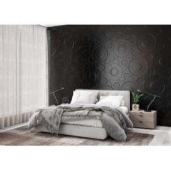 Carrelage hexagonal décors vagues INTUITION BLACK WAVES 25x30 cm - 0.935m² Apavisa