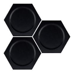 Carrelage hexagonal décors ronds INTUITION BLACK CIRCLE 25x30 cm - 0.935m² Apavisa