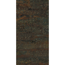 Carrelage rectangulaire grand format effet industriel RUST GREEN NATUREL 50X100 - Rectifié - 1.48m² Apavisa