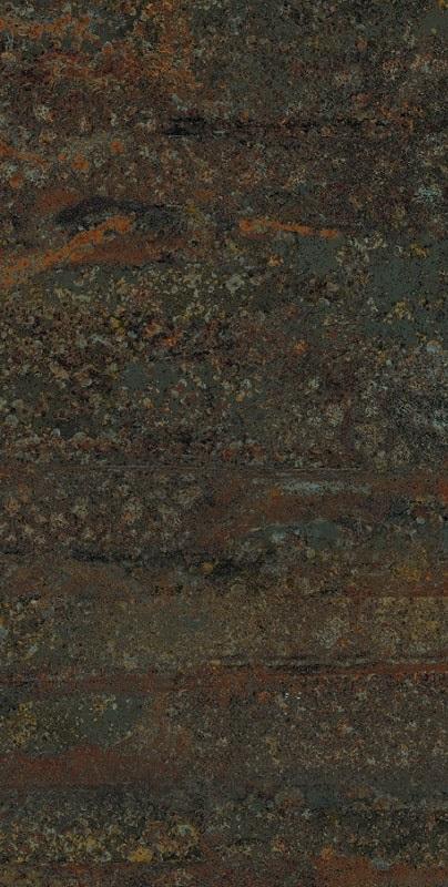 Carrelage rectangulaire grand format effet industriel RUST GREEN NATUREL 50X100 - Rectifié - 1.48m² - zoom