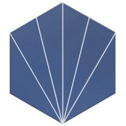 Carreau tomette bleu dandelion 33x28.5 VENUS Indigo - 1m²