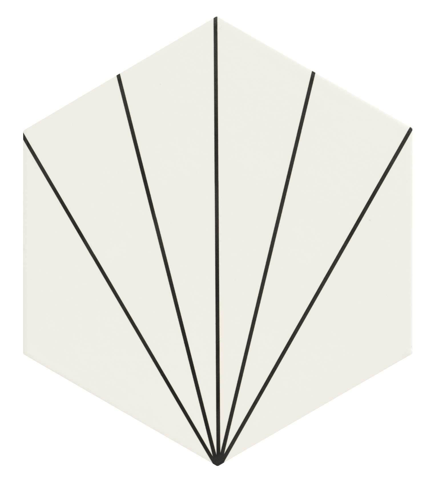 Carreau tomette blanc dandelion 33x28.5 VENUS WHITE - 1m² - zoom