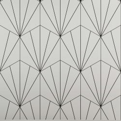 Carreau tomette blanc dandelion 33x28.5 VENUS WHITE - 1m² Realonda