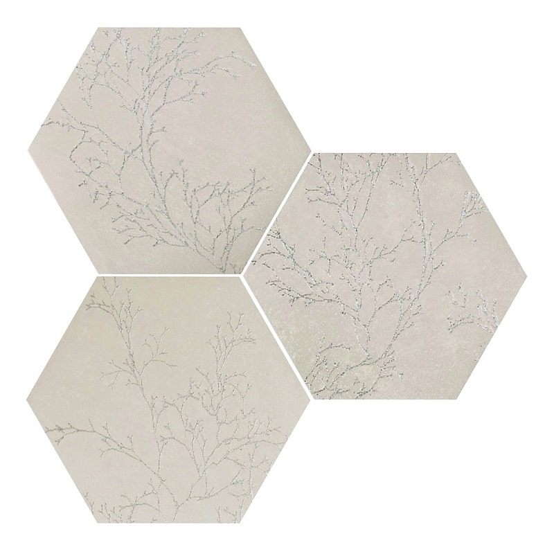 Carrelage Hexagonal Faible Epaisseur Ozone Ivory Decor 25x30 Cm 0 935m As De Carreaux