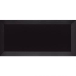 Carreau Métro biseauté noir mat 7.5x15 - 1m² Ribesalbes