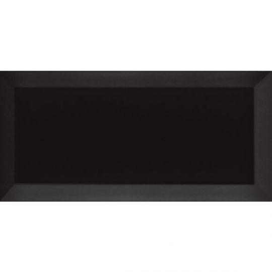 Carreau Métro biseauté noir mat 7.5x15 - 1m² - zoom