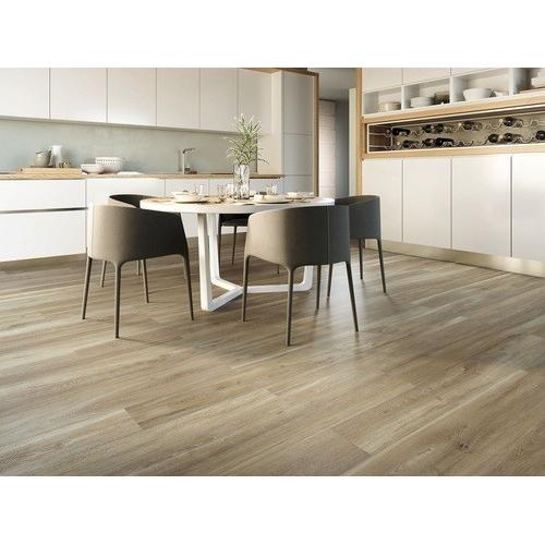 Carrelage imitation parquet rectifié vieilli mat 20x120 BELFAST TEAK R10 - 0.96 m² Baldocer