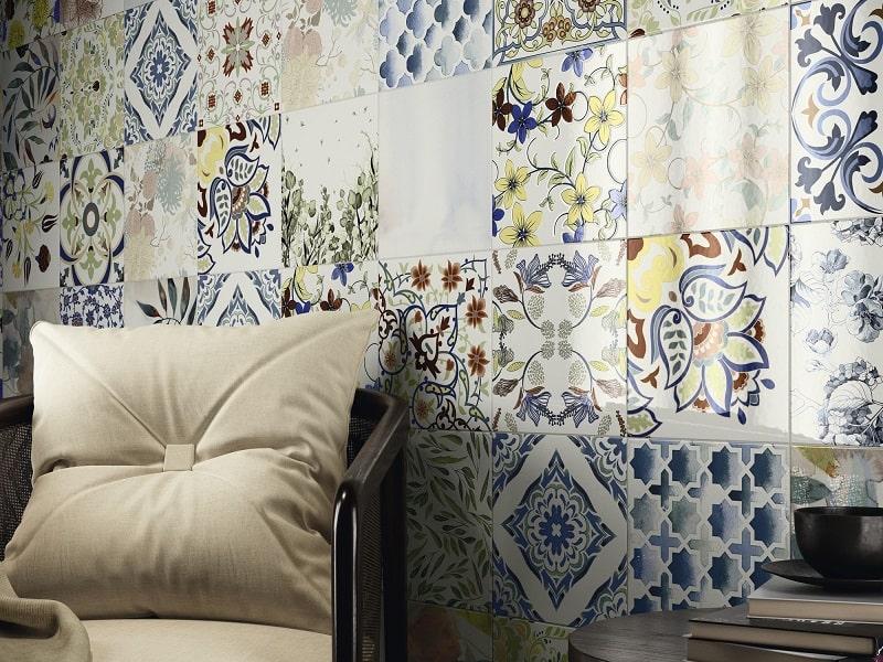 Carrelage imitation ciment aux motifs aléatoires - MICHIQ 25X25 - 0.63m² - zoom