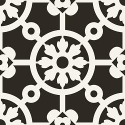 Carrelage imitation ciment noir et blanc 20x20 cm BERCY NERO 20PR00YNA - 1.16 m²