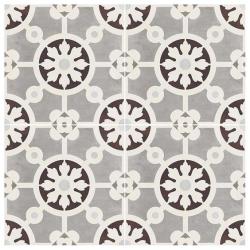 Carrelage imitation ciment 20x20 cm Paris BERCY MARRONE - 1.16 m² Faetano