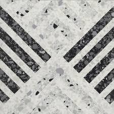 Carrelage imitation terrazzo décoré 60x60cm DECOR Rectifié - 1.08m² - zoom