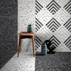 Carrelage imitation terrazzo décoré 60x60cm DECOR Rectifié - 1.08m² Savoia